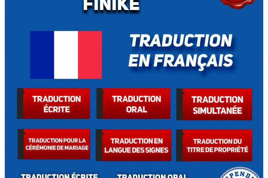 BUREAU DE TRADUCTION DE FINIKE