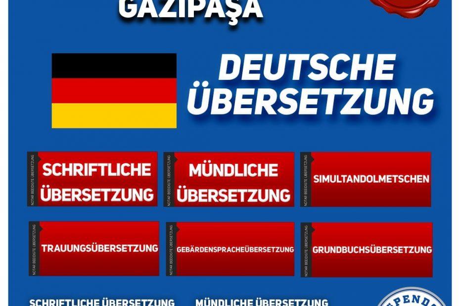 Gazipaşa Übersetzungsbüro - Deutsche Übersetzungen - Aspendos Übersetzungsdienste