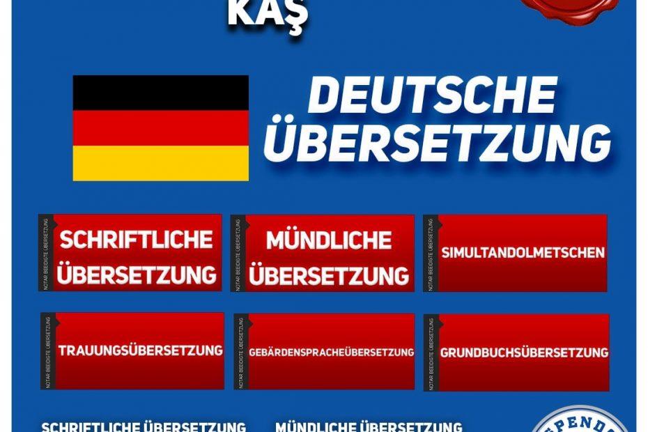 Kaş Übersetzungsbüro - Deutsche Übersetzungen - Aspendos Übersetzungsdienste