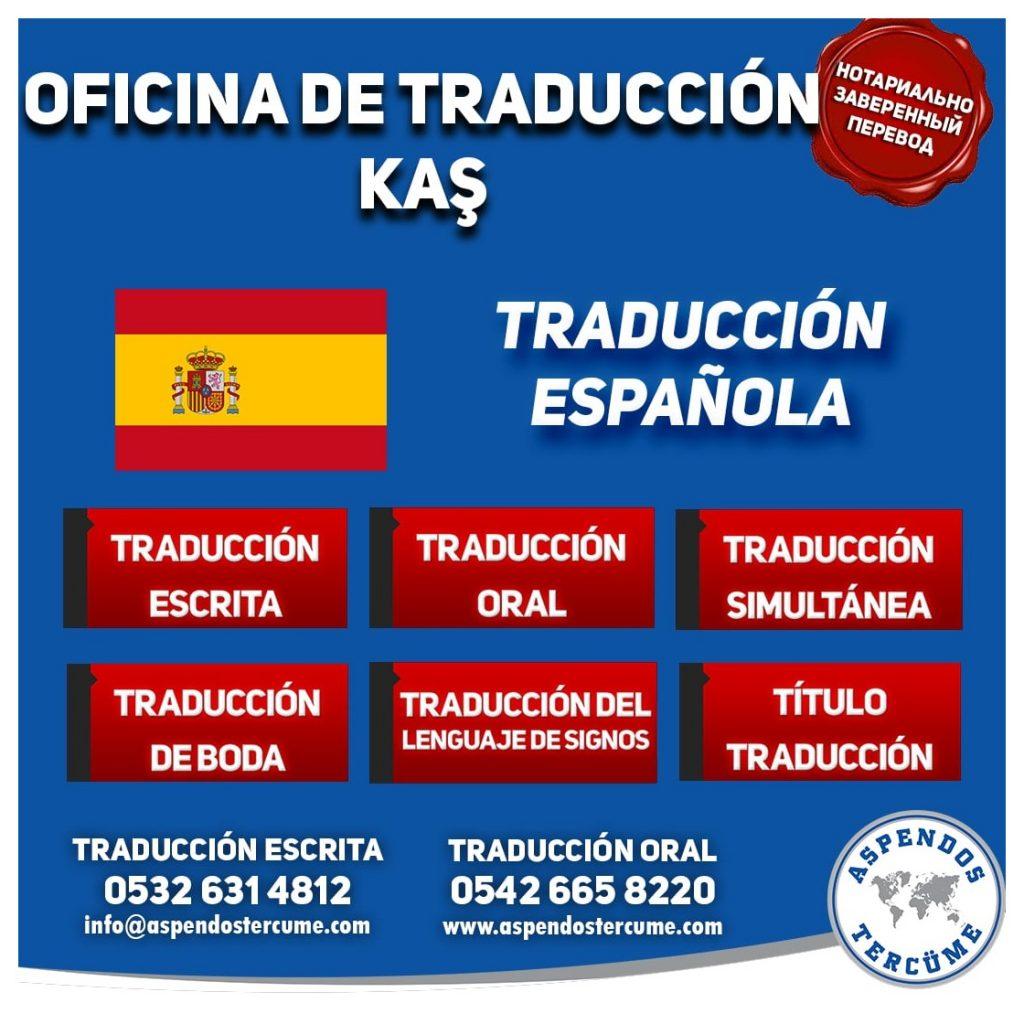 Kaş Oficina de Traduccion - Traducción Española
