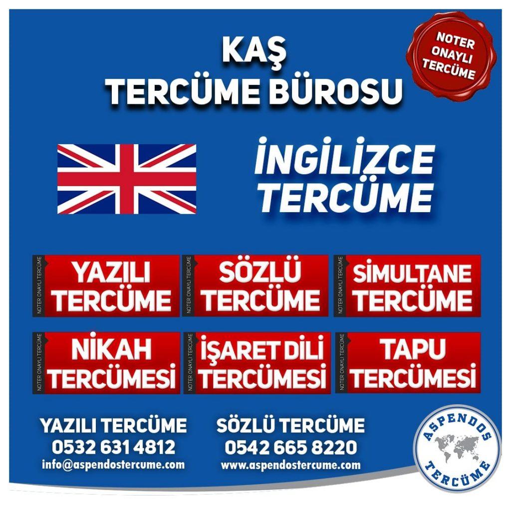 Kaş Tercüme Bürosu - İngilizce Tercüme - Aspendos Tercüme