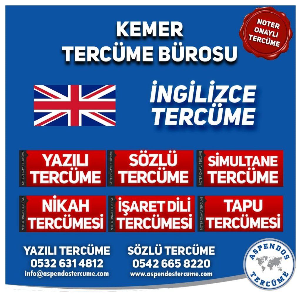 Kemer Tercüme Bürosu - İngilizce Tercüme - Aspendos Tercüme