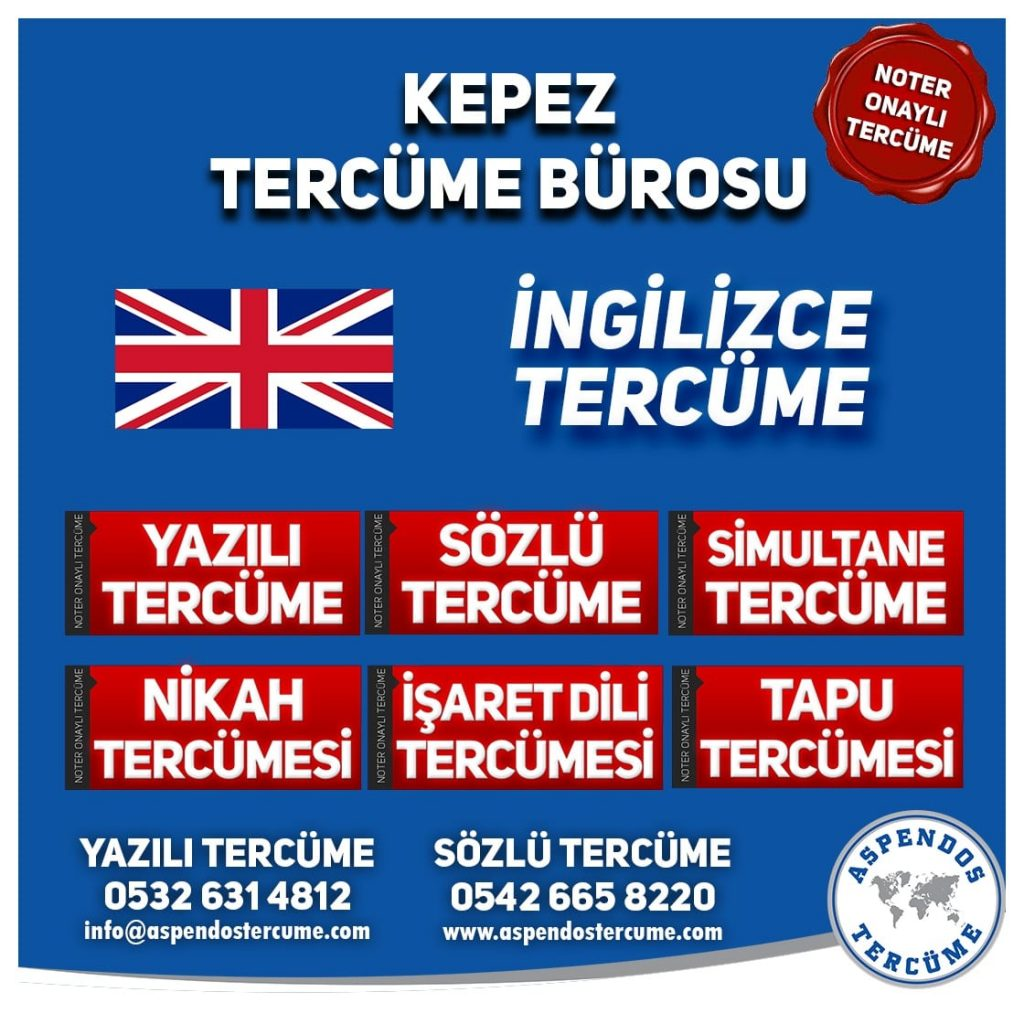 Kepez Tercüme Bürosu - İngilizce Tercüme - Aspendos Tercüme