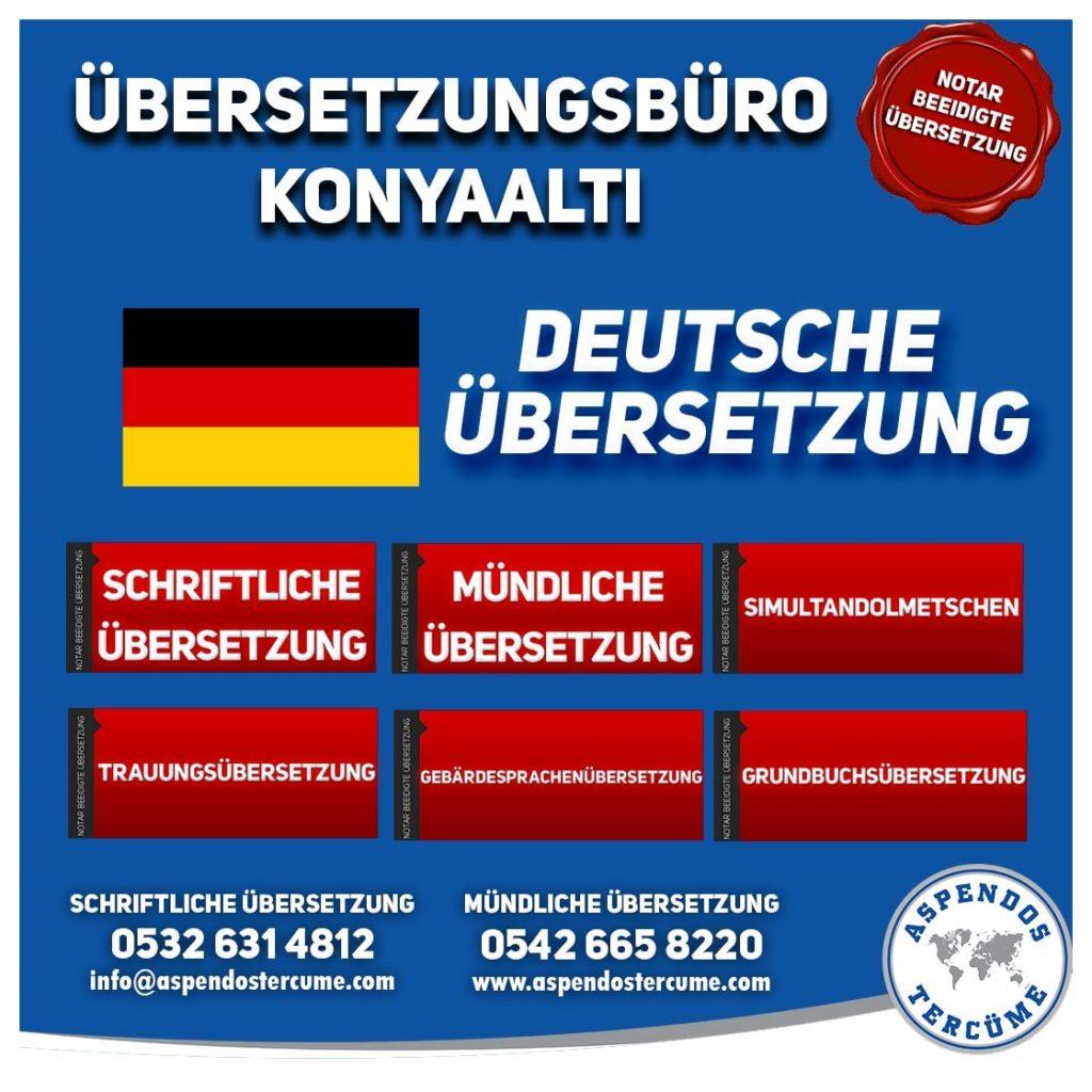 Konyaaltı Übersetzungsbüro - Deutsche Übersetzungen - Aspendos Übersetzungsdienste