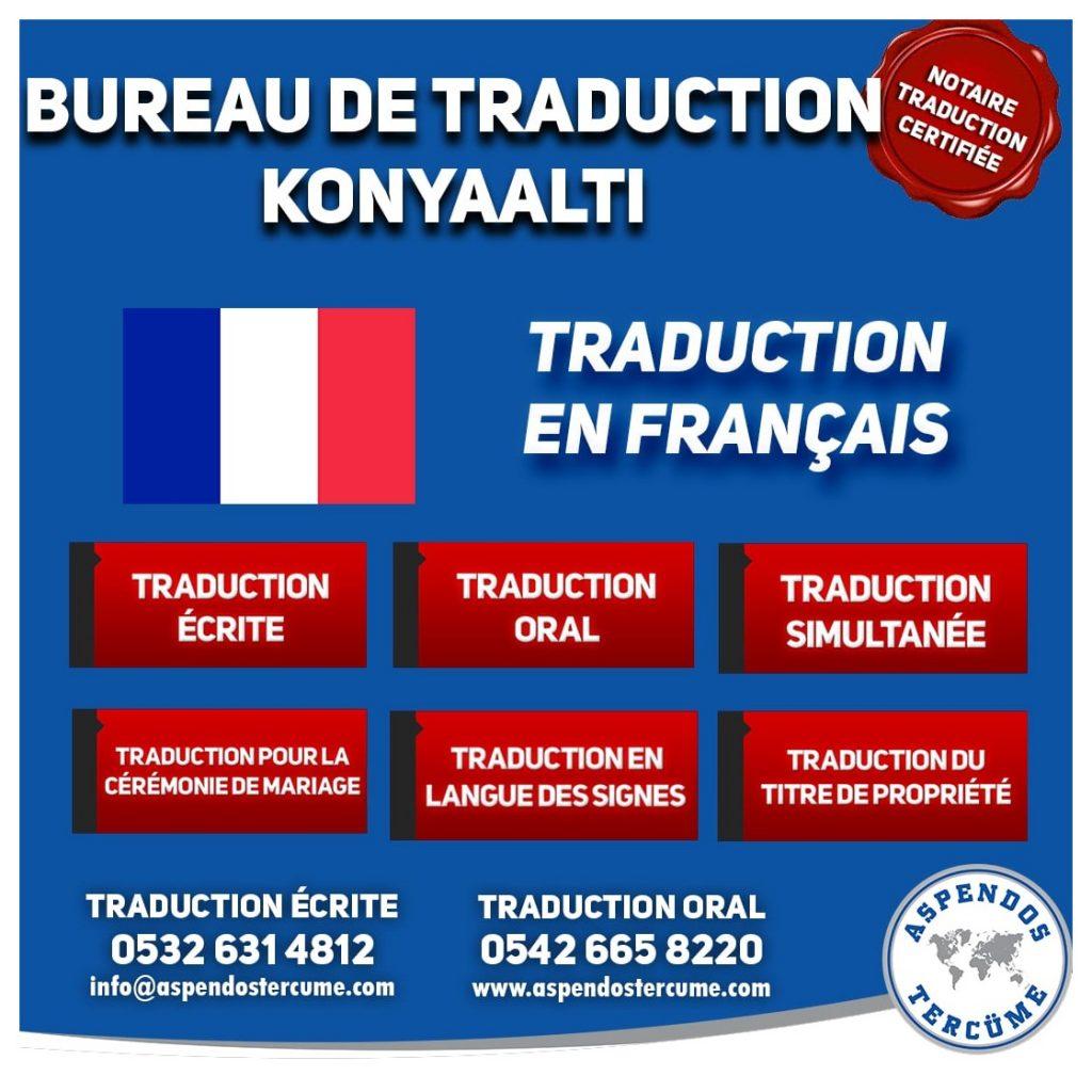 BUREAU DE TRADUCTION DE KONYAALTI