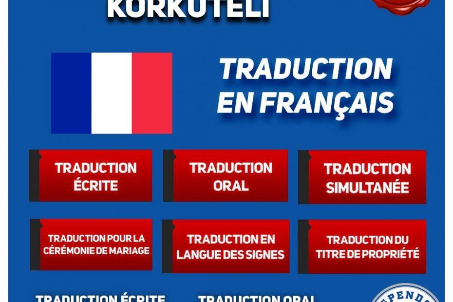 BUREAU DE TRADUCTION DE KORKUTELİ