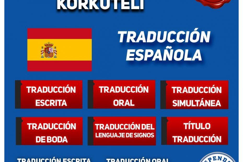Korkuteli Oficina de Traduccion - Traducción Española