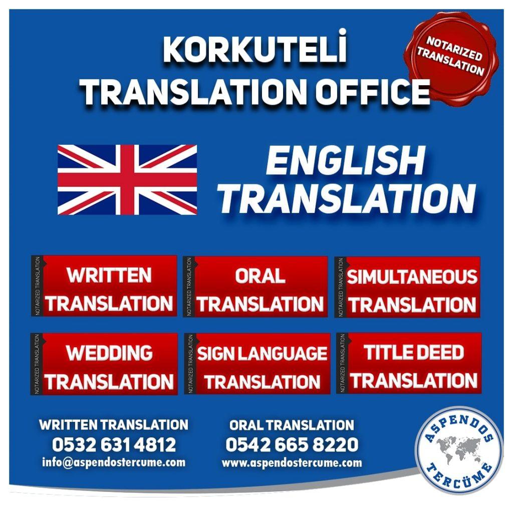 Korkuteli Translation Office - English Translation - Aspendos Translation Services