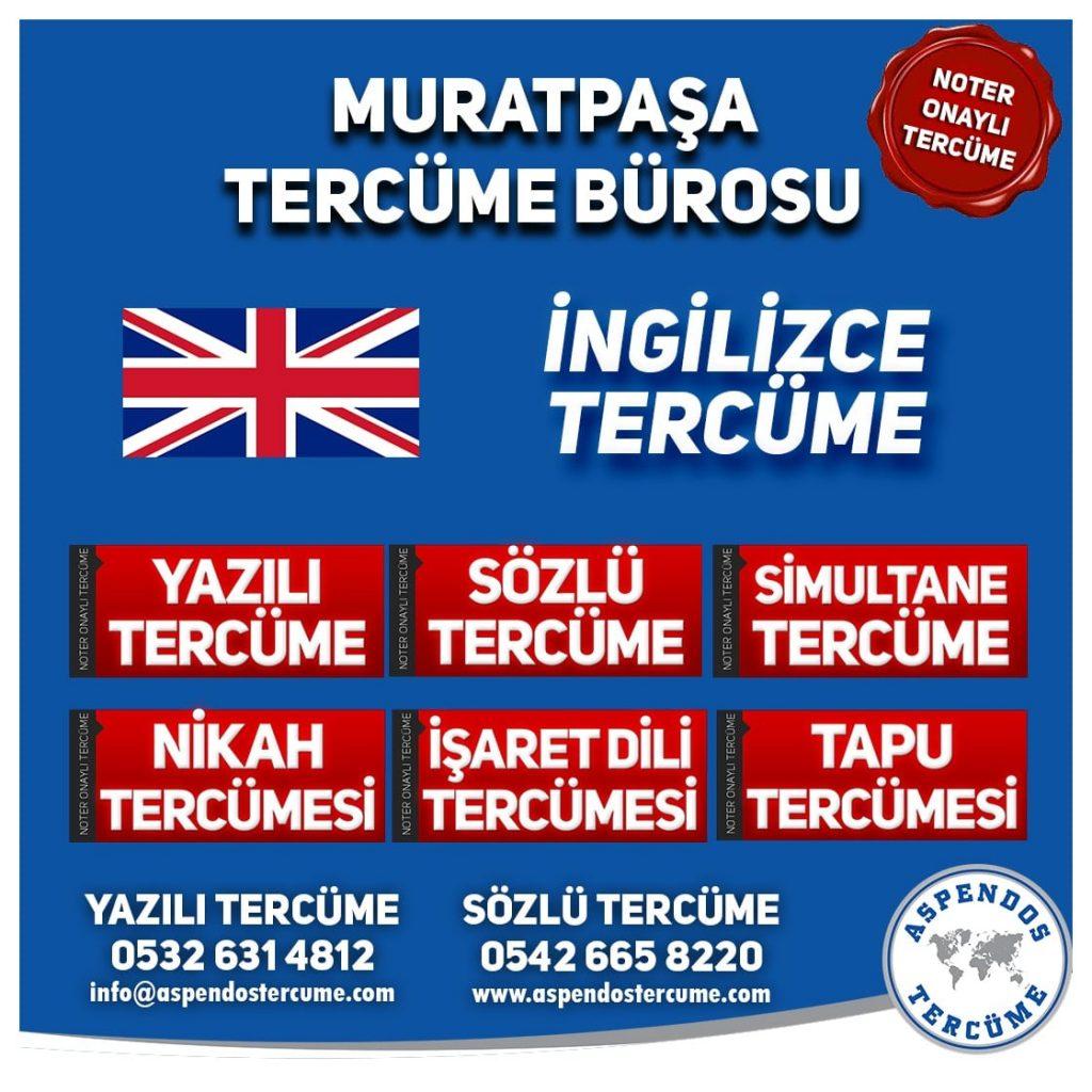 Muratpaşa Tercüme Bürosu - İngilizce Tercüme - Aspendos Tercüme