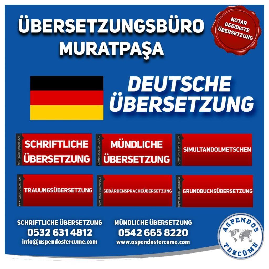 Muratpaşa Übersetzungsbüro - Deutsche Übersetzungen - Aspendos Übersetzungsdienste