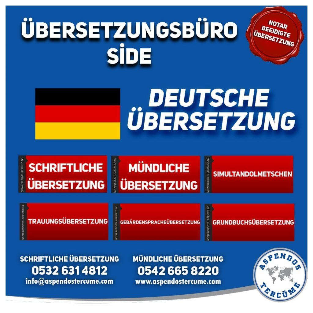 Side Übersetzungsbüro - Deutsche Übersetzungen - Aspendos Übersetzungsdienste