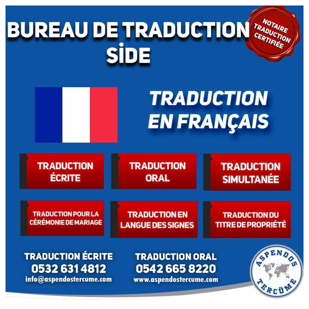 BUREAU DE TRADUCTION DE SİDE