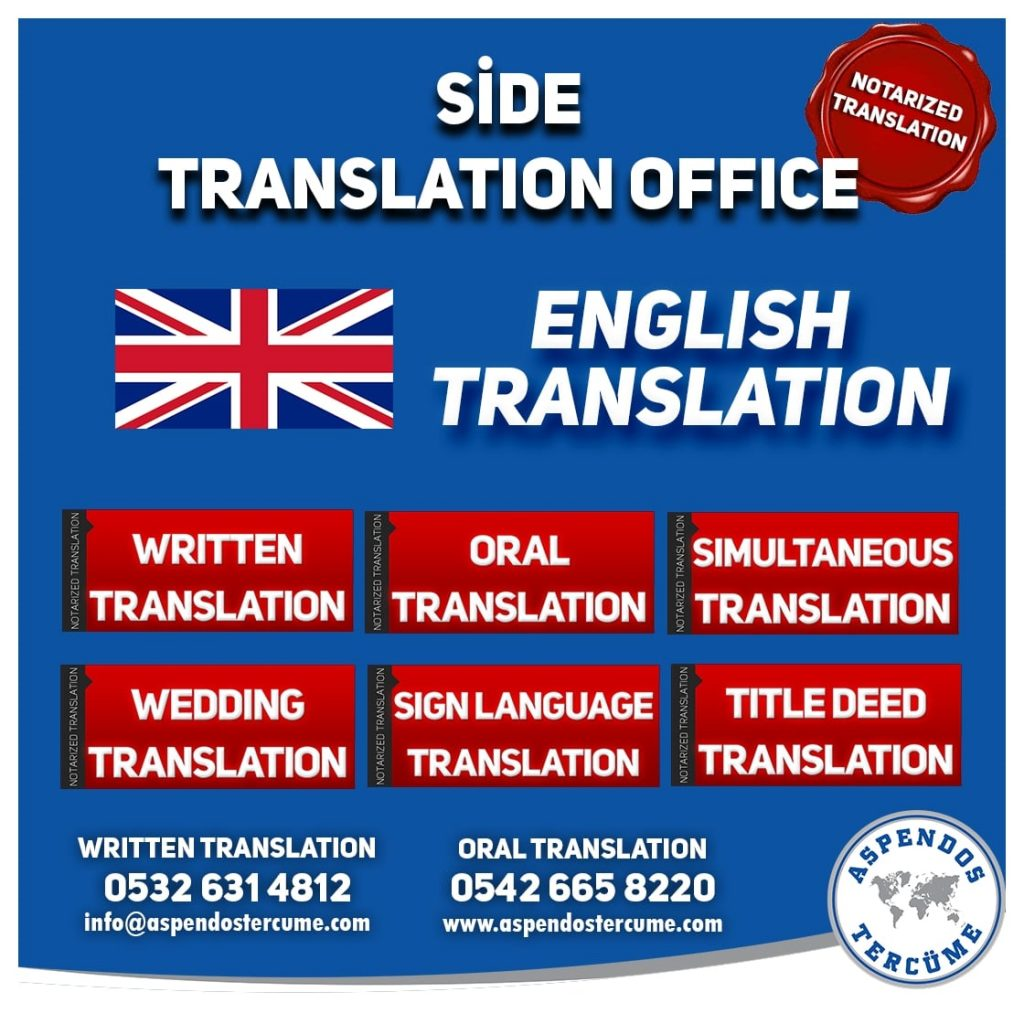 Side Translation Office - English Translation - Aspendos Translation Services