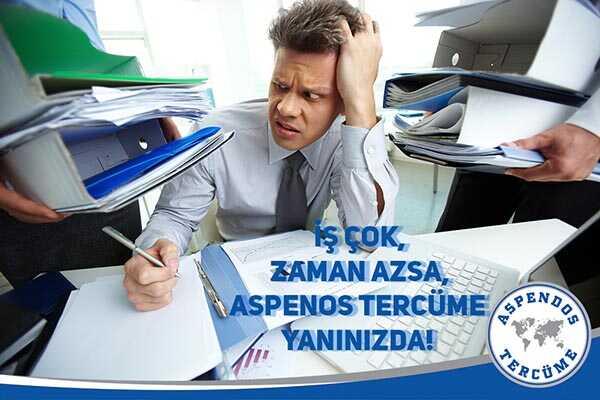 İş çok, zaman azsa! Aspendos Tercüme yanınızda!