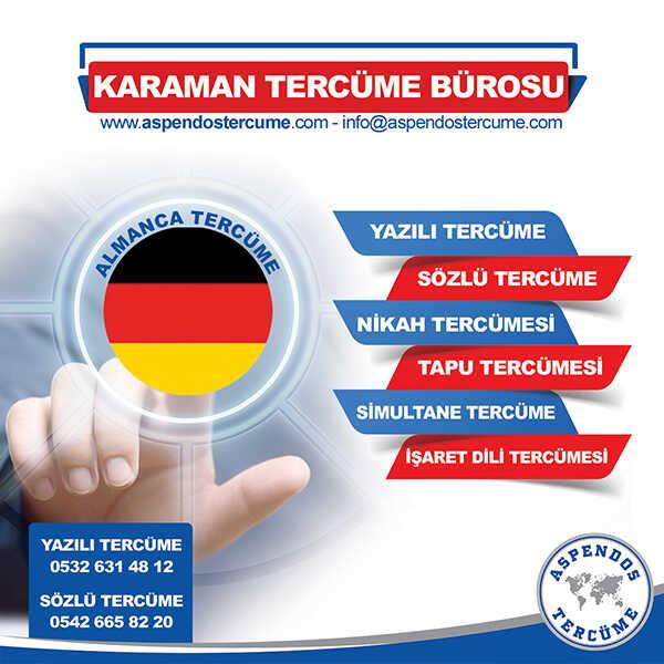 Karaman Almanca Tercüme Hizmeti
