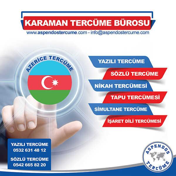 Karaman Azerice Tercüme Hizmeti