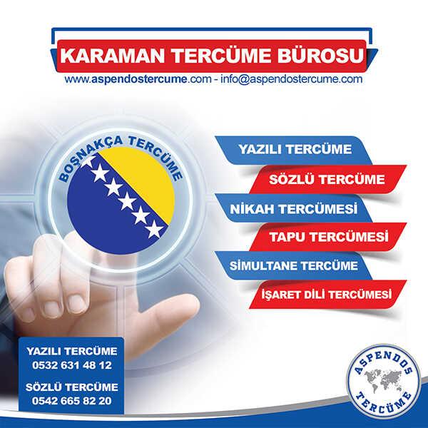 Karaman Boşnakça Tercüme Hizmeti