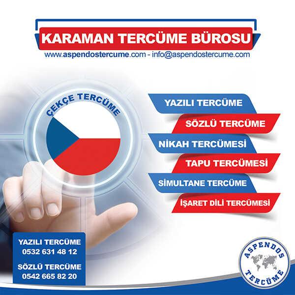 Karaman Çekçe Tercüme Hizmeti