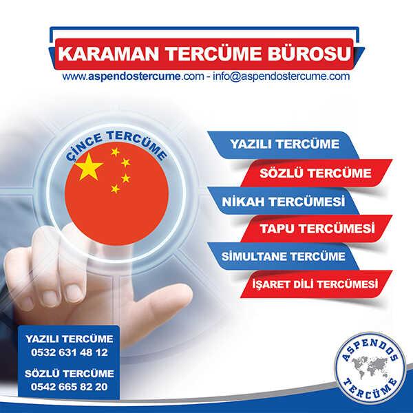 Karaman Çince Tercüme Hizmeti
