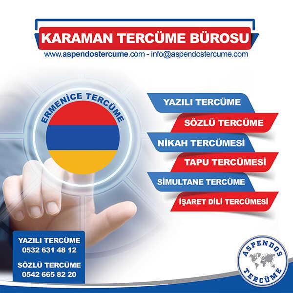 Karaman Ermenice Tercüme Hizmeti