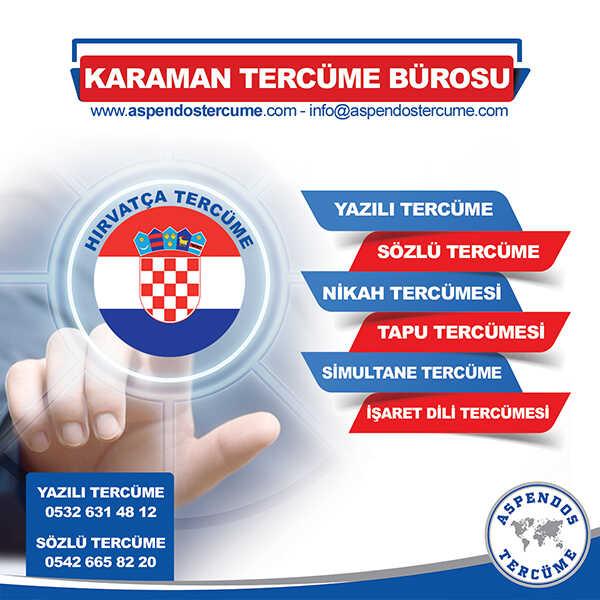 Karaman Hırvatça Tercüme Hizmeti