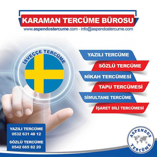 Karaman İsveççe Tercüme Hizmeti