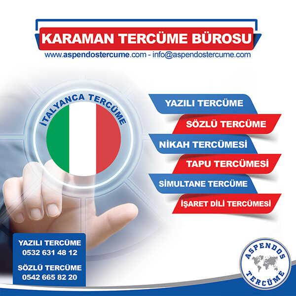 Karaman İtalyanca Tercüme Hizmeti
