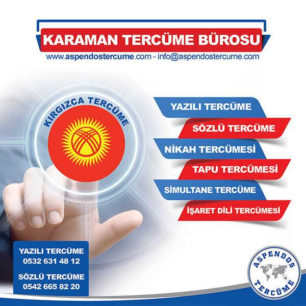 Karaman Kırgızca Tercüme Hizmeti
