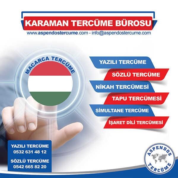 Karaman Macarca Tercüme Hizmeti