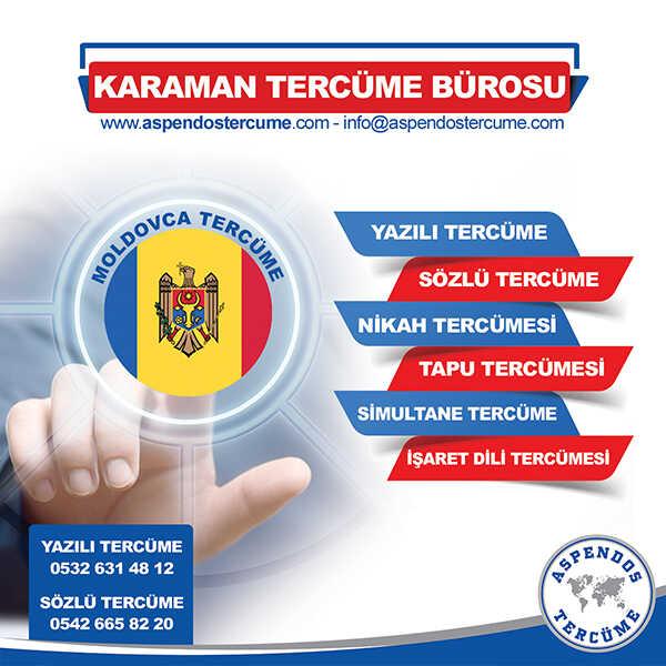 Karaman Moldovca Tercüme Hizmeti