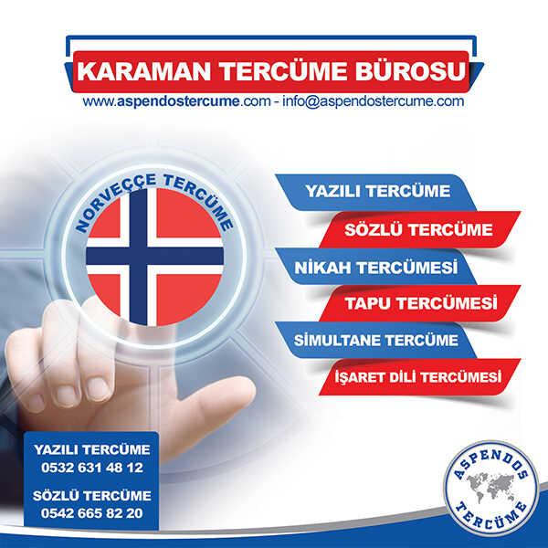 Karaman Norveççe Tercüme Hizmeti