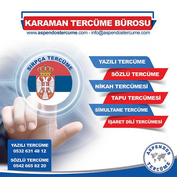 Karaman Sırpça Tercüme Hizmeti