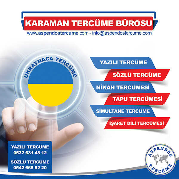 Karaman Ukraynaca Tercüme Hizmeti
