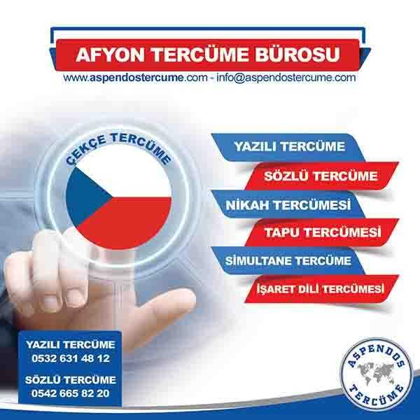Afyon Çekçe Tercüme Hizmeti