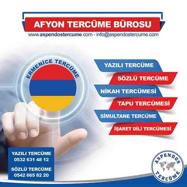 Afyon Ermenice Tercüme Hizmeti