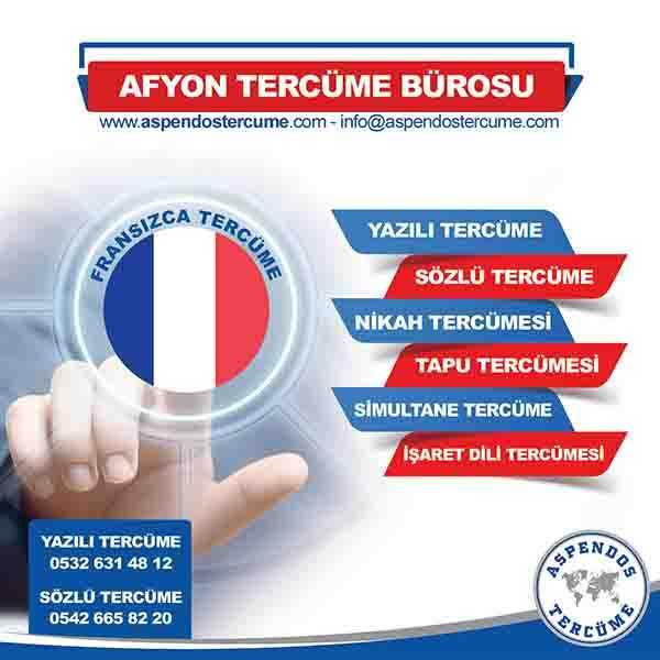 Afyon Fransızca Tercüme Hizmeti