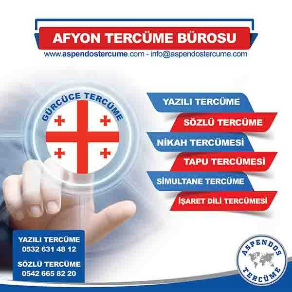 Afyon Gürcüce Tercüme Hizmeti