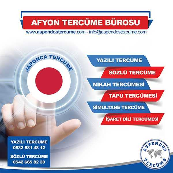 Afyon Japonca Tercüme Hizmeti