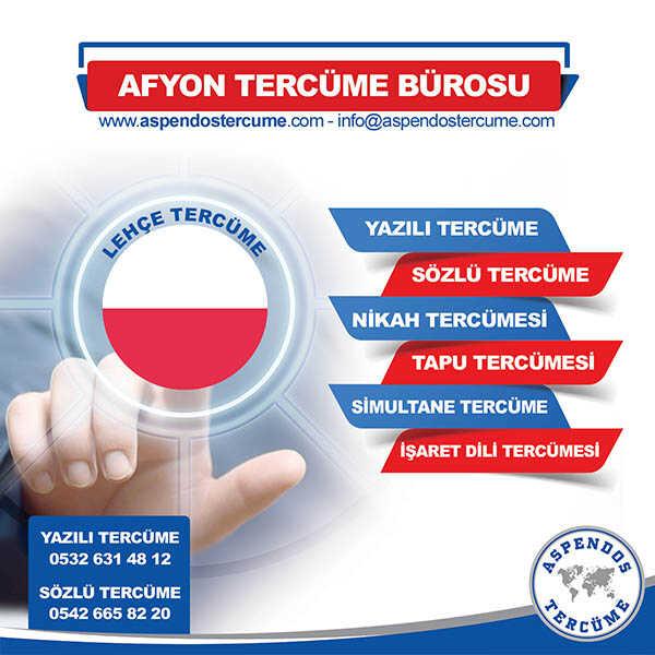 Afyon Lehçe Tercüme Hizmeti