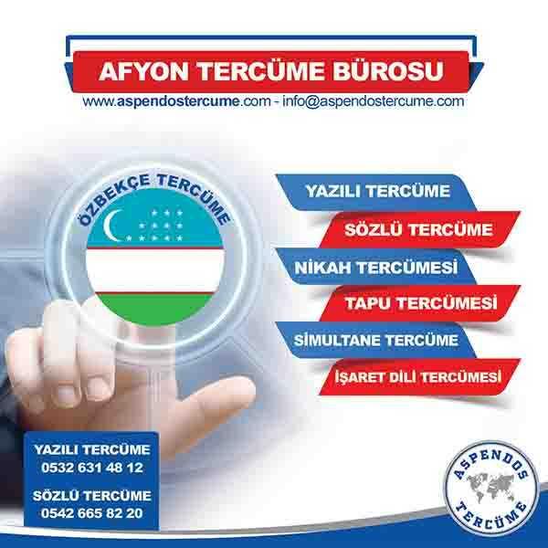 Afyon Özbekçe Tercüme Hizmeti