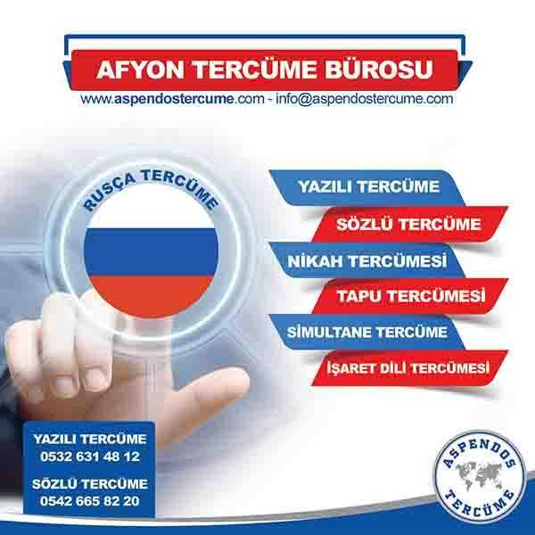 Afyon Rusça Tercüme Hizmeti