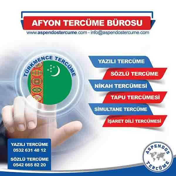 Afyon Türkmence Tercüme Hizmeti