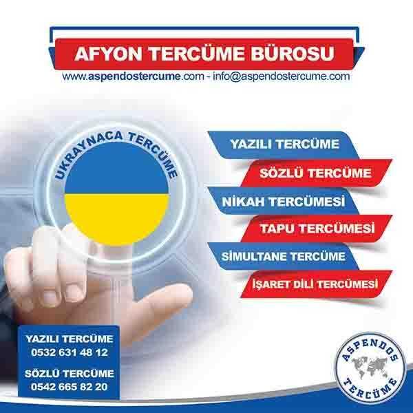 Afyon Ukraynaca Tercüme Hizmeti