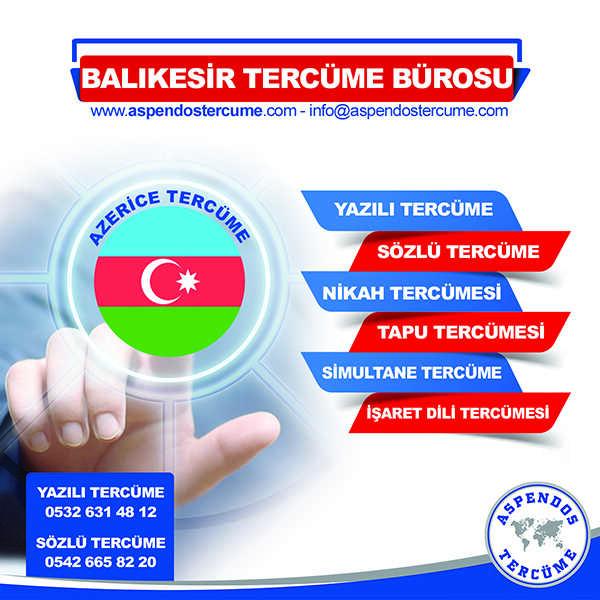 Balıkesir Azerice Tercüme Hizmeti
