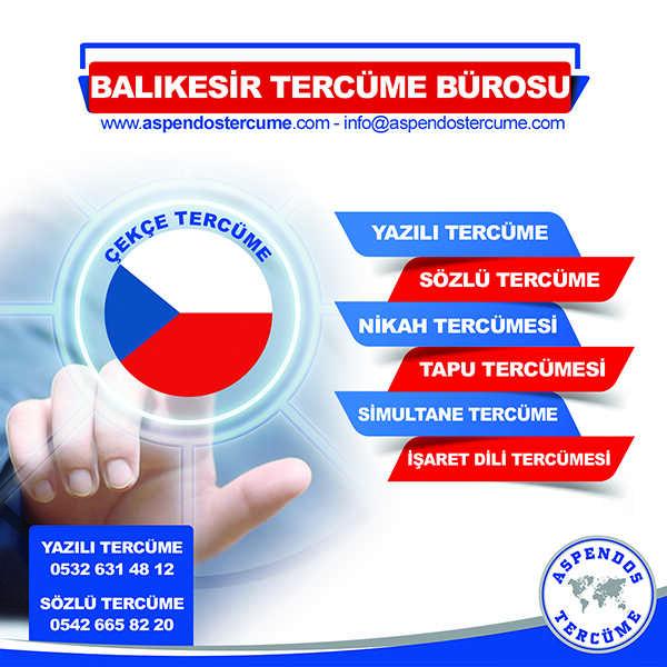 Balıkesir Çekçe Tercüme Hizmeti