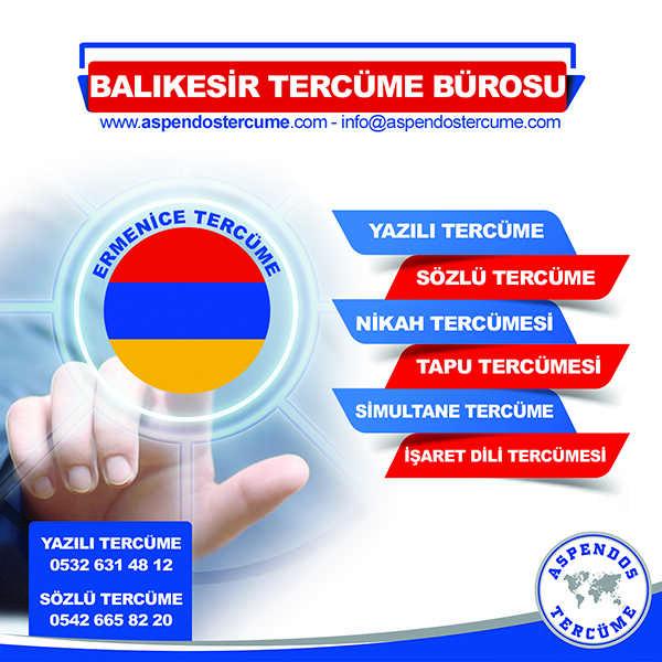 Balıkesir Ermenice Tercüme Hizmeti