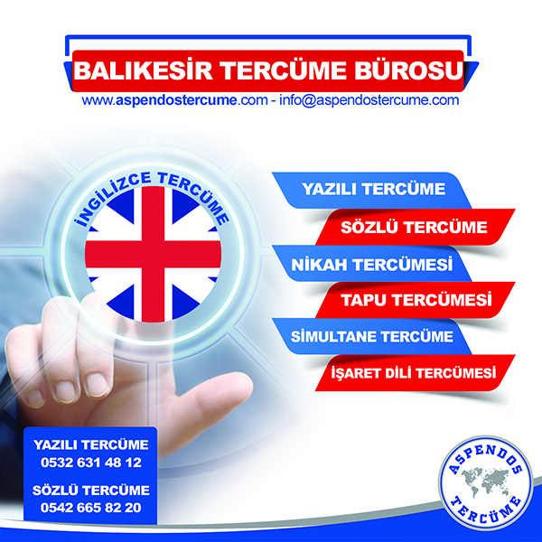 Balıkesir İngilizce Tercüme Hizmeti