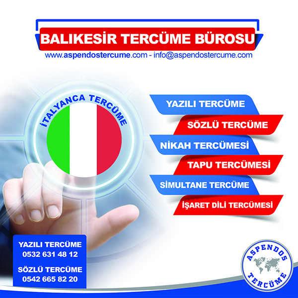 Balıkesir İtalyanca Tercüme Hizmeti