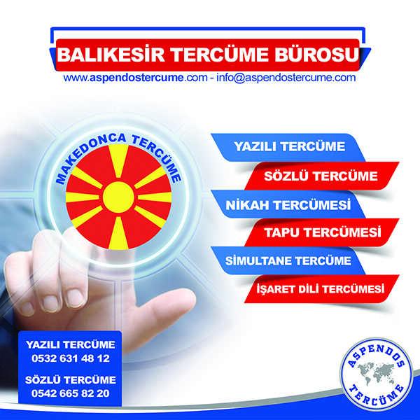 Balıkesir Makedonca Tercüme Hizmeti