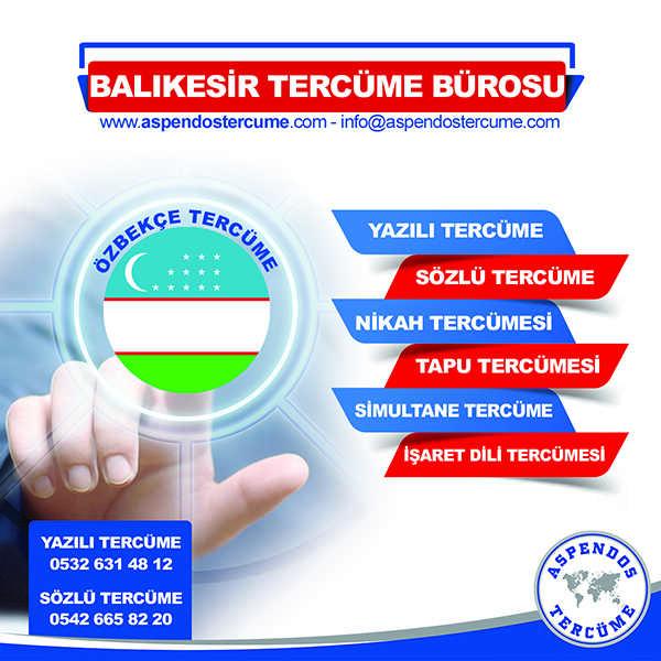 Balıkesir Özbekçe Tercüme Hizmeti